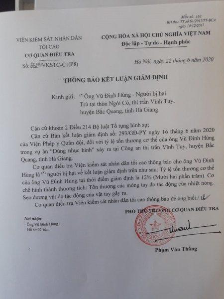 Bắt giam Trưởng Công an thị trấn Vĩnh Tuy