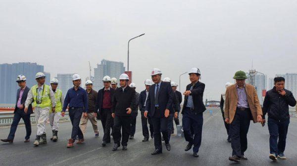 Bộ trưởng Nguyễn Văn Thể thị sát 2 dự án giao thông quan trọng tại Thủ đô