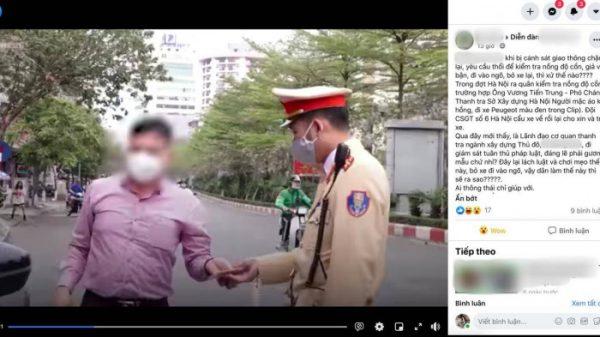 """Phó chánh Thanh tra Sở Xây dựng Hà Nội nói gì vụ """"né"""" kiểm tra nồng độ cồn?"""