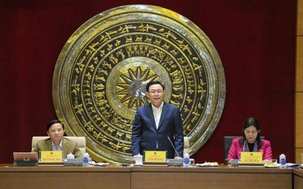 Chủ tịch Quốc hội Vương Đình Huệ làm việc với Ủy ban Tư pháp, Ban Công tác đại biểu