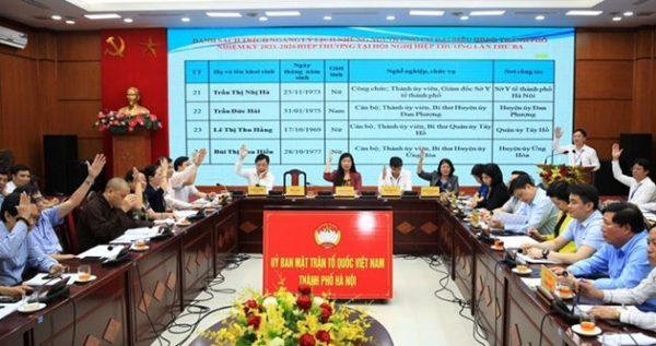 Hà Nội: 160 người đủ tiêu chuẩn ứng cử đại biểu HĐND