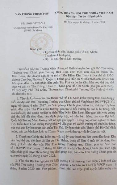 Khiếu nại, tố cáo của Doanh nghiệp Kim Loan: Lãnh đạo Chính phủ nhiều lần chỉ đạo, vụ việc vẫn chưa kết thúc!