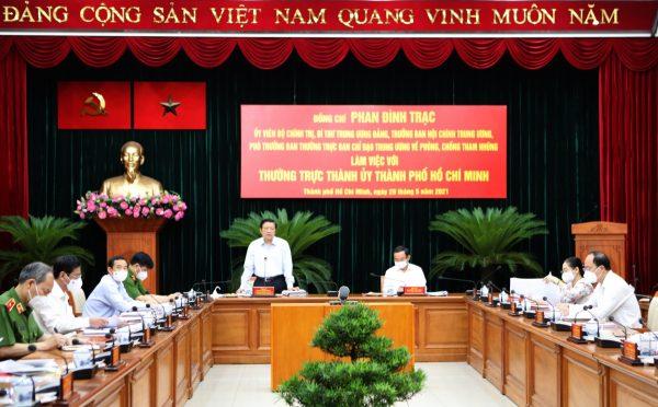 Kiểm tra việc thực hiện kết luận của Thường trực Ban Chỉ đạo T.Ư về phòng, chống tham nhũng tại TP Hồ Chí Minh