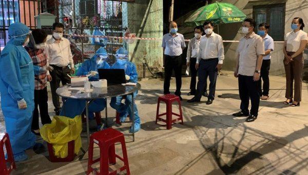Bí thư Đà Nẵng kiểm tra hoạt động phòng, chống COVID-19 trên địa bàn