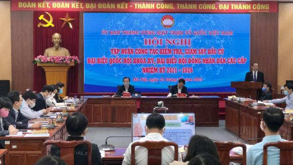 Hội nghị trực tuyến tập huấn công tác kiểm tra, giám sát bầu cử