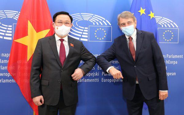 Chủ tịch Nghị viện Châu Âu (EP) David Sassoli: EVFTA là mô hình hợp tác mẫu mực giữa Việt Nam và EU